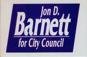 Yard sign from 1991 city council race.